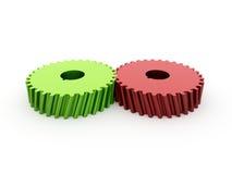 Zwei Gänge rot und grün  Lizenzfreies Stockbild