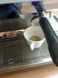 Zwei-gebratene Kaffeemaschine Lizenzfreie Stockbilder