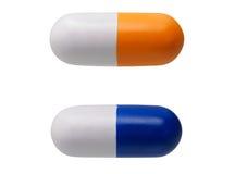 Zwei geformte anti-stress Spielwaren der Pille Stockbild