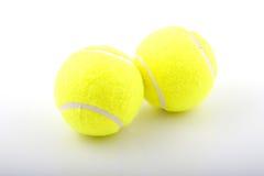 Zwei gelbe Tennisbälle Lizenzfreies Stockfoto