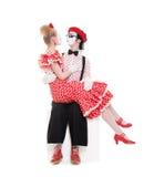 Zwei geliebte Pantomimen Stockfotos