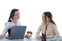 Zwei Geschäftsfrau stockbild