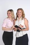 Zwei Geschäftsfrauen Stockfotos