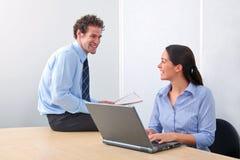 Zwei Geschäftsleute Lizenzfreies Stockfoto