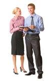 Zwei Geschäftsleute, getrennt Lizenzfreie Stockbilder