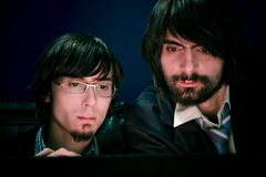 Zwei Geschäftsmänner bei der Arbeit Lizenzfreies Stockfoto