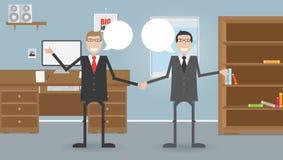 Zwei Geschäftsmänner im Büro Lizenzfreies Stockfoto
