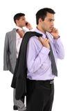 Zwei Geschäftsmänner nehmend gestanden Lizenzfreies Stockfoto