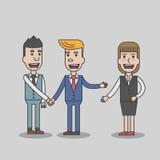 Zwei Geschäftsmann-Handerschütterung Lizenzfreie Stockbilder