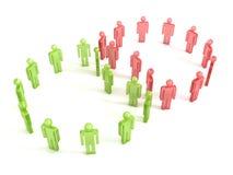 Zwei Geschäftsteams in der Erfolgszusammenarbeit Stockbild