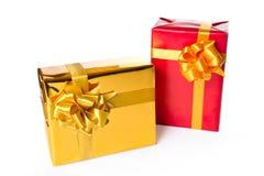 Zwei Geschenkkästen Stockfoto