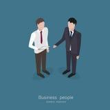 Zwei Geschäftsmannunterhaltung Stockfoto