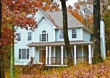 Zwei Geschichte-Haus mit Portal Lizenzfreie Stockfotografie