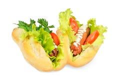 Zwei geschmackvoll und köstliches Würstchen lizenzfreies stockfoto