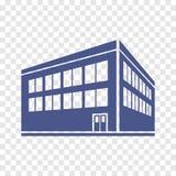 Zwei-Geschossgebäudeikone Lizenzfreie Stockfotografie