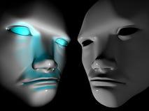 Zwei Gesichter Stockfoto