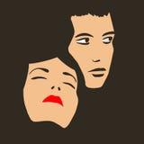Zwei Gesichter Stockbild