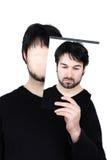 Zwei Gesichter - denken Sie lizenzfreie stockfotografie