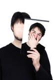 Zwei Gesichter entsetzt Stockfoto