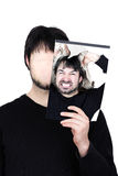 Zwei Gesichter flippen heraus aus Lizenzfreies Stockbild