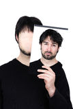 Zwei Gesichter - verwirrt stockfotografie