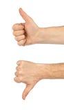 Zwei gestikulierende Hände Stockbild