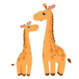 Zwei Giraffen stock abbildung