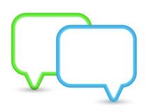 Zwei glänzende Spracheblasen Lizenzfreies Stockbild