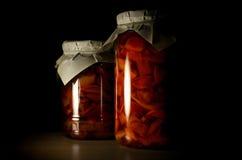Zwei Gläser Apfelmarmelade Lizenzfreie Stockbilder