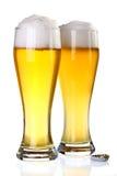 Zwei Gläser Bier Stockbilder