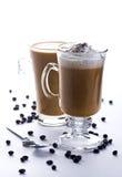 Zwei Gläser Kaffee Lizenzfreie Stockfotografie