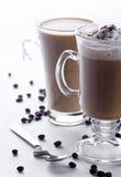 Zwei Gläser Kaffee Lizenzfreie Stockfotos