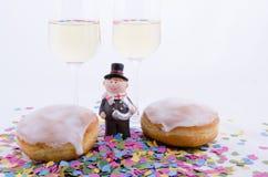 Zwei Gläser mit Champagner Stockfotografie