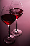 Zwei Gläser Rotwein Lizenzfreie Stockfotografie