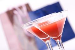 Zwei Gläser u. Abendparty Lizenzfreies Stockbild