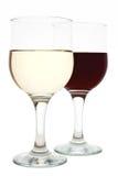 Zwei Gläser Wein Stockfotografie