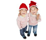 Zwei glückliche asiatische Jungen Stockfoto