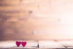 Zwei glückliche Herzen Lizenzfreies Stockfoto