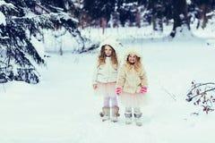 Zwei glückliche Kinder lizenzfreie stockbilder