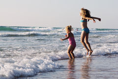 Zwei glückliche Kinder Stockfotografie