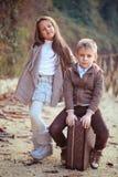 Zwei glückliche Kinder lizenzfreies stockfoto