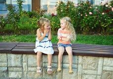 Zwei glückliche kleine Mädchen Lizenzfreie Stockfotografie