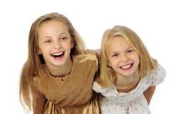Zwei glückliche Mädchen Lizenzfreies Stockfoto