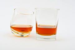 Zwei Glas Whisky Lizenzfreie Stockfotos