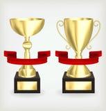 Zwei Goldcup Lizenzfreie Stockbilder