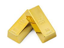 Zwei Goldstäbe Lizenzfreie Stockbilder