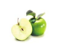 Zwei grüne Äpfel Stockfotografie