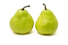 Zwei grüne Birnen Lizenzfreies Stockfoto