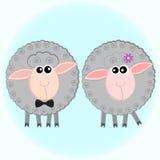 Zwei graue Schafe vektor abbildung