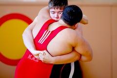 Zwei griechisch-romanische ringend Wettbewerbe der Ringkämpfer Stockbilder